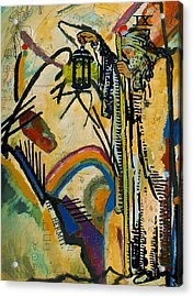 The Hermit Tarot Card Acrylic Print by Corporate Art Task Force
