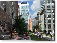 The High Line Acrylic Print by Diane Lent
