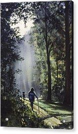 The Hiker Acrylic Print by Rita Cooper