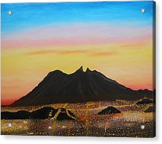 The Hill Of Saddle Monterrey Mexico Acrylic Print by Jorge Cristopulos