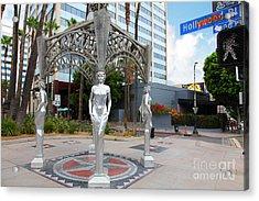 The Hollywood Boulevard Gazebo La Brea Gateway To Hollywood 5d28926 Acrylic Print by Wingsdomain Art and Photography