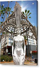 The Hollywood Boulevard Gazebo La Brea Gateway To Hollywood 5d28929 Acrylic Print by Wingsdomain Art and Photography
