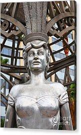 The Hollywood Boulevard Gazebo La Brea Gateway To Hollywood 5d28930 Acrylic Print by Wingsdomain Art and Photography