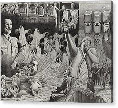 The Holocaust Acrylic Print by Dennis Nadeau