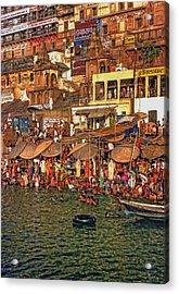 The Holy Ganges Acrylic Print by Steve Harrington