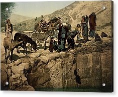 The Holy Land Circa 1890 Acrylic Print by Aged Pixel
