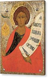 The Holy Prophet Zacharias Acrylic Print by Novgorod School