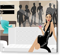 The Hostess Acrylic Print by Amy De Wolfe