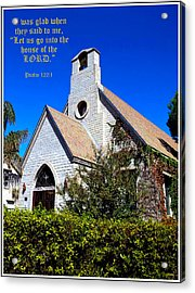 The House Of The Lord Acrylic Print by Glenn McCarthy Art and Photography