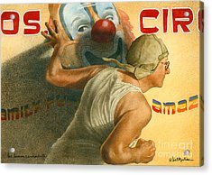 The Human Cannonball... Acrylic Print by Will Bullas