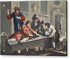 The Idle Prentice At Play In The Church Acrylic Print by William Hogarth