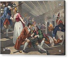 The Idle Prentice Betrayed Acrylic Print by William Hogarth