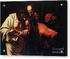 The Incredulity Of Saint Thomas Acrylic Print by Pg Reproductions