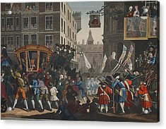 The Industrious Prentice Lord Mayor Acrylic Print by William Hogarth