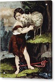 The Infant Saint John Acrylic Print by Aged Pixel