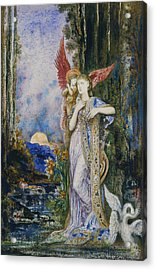 The Inspiration  Acrylic Print by Gustave Moreau