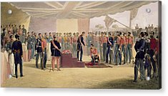 The Investiture Of The Order Acrylic Print by William 'Crimea' Simpson