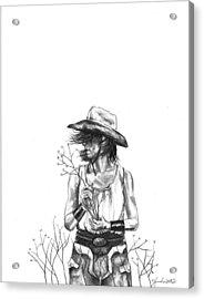 The Iron Cowgirl Acrylic Print by J Ferwerda