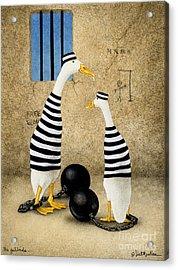 The Jailbirds... Acrylic Print by Will Bullas