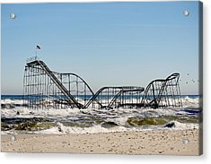The Jetstar Remembered- 2012 Acrylic Print by  Tina McGinley