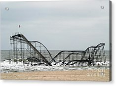 The Jetstar Rollercoaster In Seaside Heights Nj Acrylic Print by Living Color Photography Lorraine Lynch