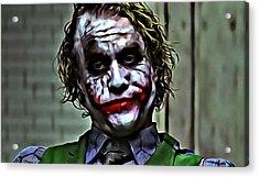 The Joker Acrylic Print by Florian Rodarte