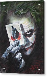 The Joker Heath Ledger  Acrylic Print by Viola El