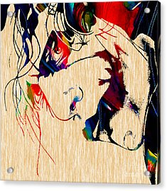 The Joker Heath Ledger Collection Acrylic Print by Marvin Blaine