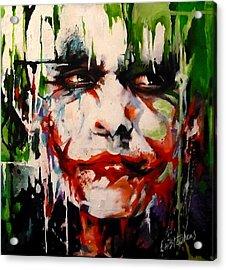 The Joker Acrylic Print by Lorna Stephens