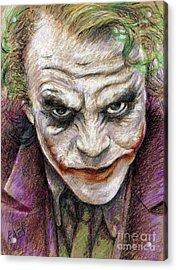 The Joker Acrylic Print by Roy Aiuto