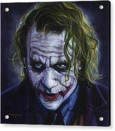 The Joker Acrylic Print by Tim  Scoggins