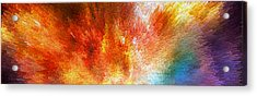 The Journey - Abstract Art By Sharon Cummings Acrylic Print by Sharon Cummings
