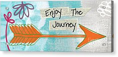 The Journey Acrylic Print by Linda Woods
