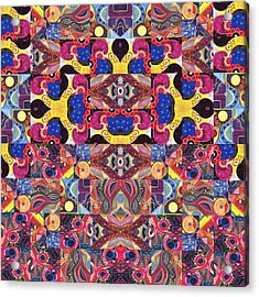 The Joy Of Design Mandala Series Puzzle 3 Arrangement 6 Acrylic Print by Helena Tiainen