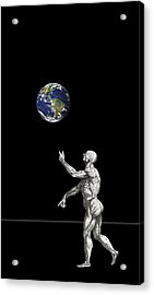 The Juggler Acrylic Print by Daniel Hagerman