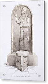 The King And Sacrificial Altar, Nimrud Acrylic Print by English School