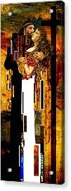 The Kiss     Christ And Maria Magdalena Acrylic Print by Karine Percheron-Daniels