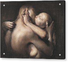 The Kiss Acrylic Print by Odd Nerdrum