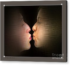 The Kiss Acrylic Print by Pedro L Gili