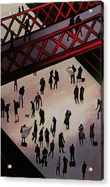 The Kiss Acrylic Print by Willie Rodger