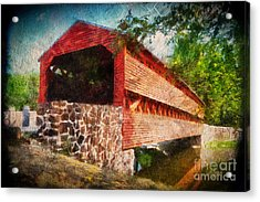 The Kissing Bridge Acrylic Print by Lois Bryan