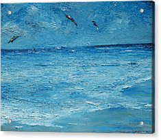 The Kite Surfers Acrylic Print by Conor Murphy