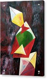 The Kites Acrylic Print by Dipali Deshpande