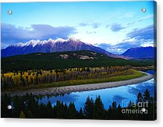 The Kootenenai River Surrounding The Canadian Rockies   Acrylic Print by Jeff Swan