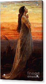 The Lament Of Jephthahs Daughter Acrylic Print by George Elgar Hicks