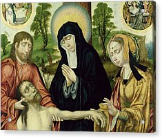 The Lamentation Of The Dead Christ, C.1520 Oil On Panel See 150818 And 150820 Acrylic Print by Hamburg Master