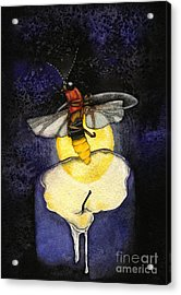 The Last Candle Acrylic Print by Nora Blansett