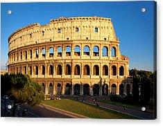 The Last Light Of Sunset On The Roman Acrylic Print by Brian Jannsen
