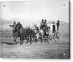 The Last Montana Stage Coach Acrylic Print by Underwood Archives