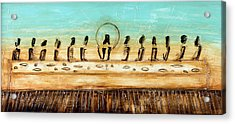 The Last Supper Acrylic Print by Ivan Guaderrama